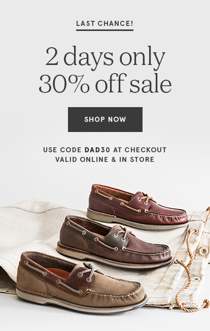 30% OFF FATHER'S DAY SALE